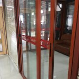 Aluminiumrahmen-Schiebetür mit dem doppelten glasierenden Glas/(JFS-8021)