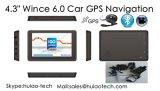 """熱い販売4.3 """"車のトラックひるみ6.0二重800のMHz CPUの駐車カメラGPSの運行G-4303のためのAVのFMの送信機を搭載する海洋GPSの航法システム、"""