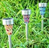 태양 강화된 모자이크 옥외 잔디밭 램프 (JG688)