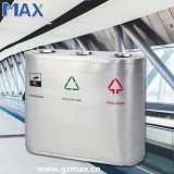 3つの容器はODMのリサイクルゴミ箱、病院のリサイクルををリサイクルする