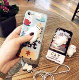 Squishy мягкая крышка случая телефона кота силикона 3D на iPhone 6/7/8