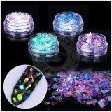 Flocos irregulares de vidro da decoração da arte do prego