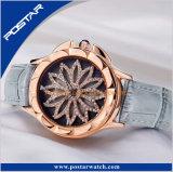 Het nieuwe Horloge van de Dames van de Wijzerplaat van Dialmond van de Manier met de Echte Riem van het Leer
