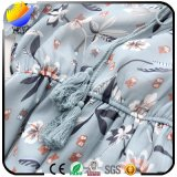 Algodón de la impresión de la manera y alineadas Shaped de la alineada de la camisa de la cintura