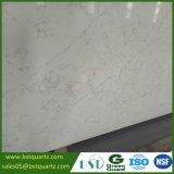 Laje branca artificial da pedra de quartzo de Calacatta Novo com veias cinzentas