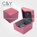 Caixa de relógio de madeira de empacotamento luxuosa feita sob encomenda do armazenamento
