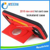 Горячий продавая случай крышки мобильного телефона PC Kickstand TPU пластичный