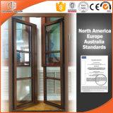 Окно с оператором американца известным прочным, окно Casement отверстия отверстия наклона внутренное Casement твердой древесины типа Америка