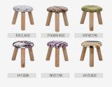 كرسيّ مختبر صلبة خشبيّة مستديرة ([م-إكس2107])
