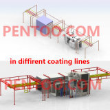 Powder manuale Coating Booth con 2 Working Stations