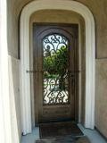 シアムンの工場からの切り分けられた単一の葉の鉄のドアエントリ前ドア