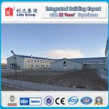 칠레 Anti-Corrosion Prefabricated 구조 또는 강철 구조물을%s 관 스카이라이트는 창고 헛간을 날조했다
