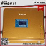 Impulsionador móvel duplo do sinal da G/M 4G Lte 900/1800MHz da faixa