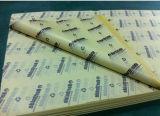 Papel de embalaje negro del tejido de la impresión para los zapatos/empaquetado de la ropa/del regalo