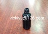 De zwarte Flessen van de Lotion van het Glas, de Purpere Zwarte Flessen van het Glas van het Serum 20ml met Druppelbuisje/Pomp