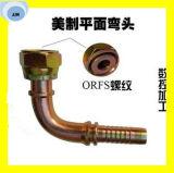 24291-10-10 embouts de durites hydrauliques de joint plat femelle d'Orfs de 90 degrés