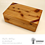 Hongdao modificó el rectángulo de almacenaje para requisitos particulares de madera de lujo del embalaje del regalo de la insignia con el _E con bisagras de la venta al por mayor de la tapa