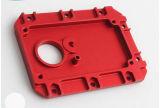 OEM обслуживает части CNC алюминия подвергая механической обработке подвергая части механической обработке красного цвета
