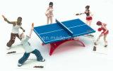 プラスチック図卓球のスポーツ図。 PVCおもちゃ