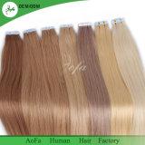 高品質のRemyの卸し売り安い毛継ぎ目が無いPUテープよこ糸の毛