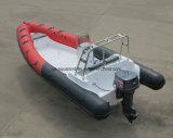 Шлюпка мотора нервюры Aqualand 21.5feet 6.5m/твердые раздувные рыбацкая лодка/патруль спасения (rib650)
