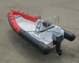 Barco de motor de la costilla de Aqualand 21.5feet los 6.5m/barco de pesca/patrulla inflables rígidos del rescate (rib650)