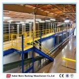 O racking fácil do mezanino dos artigos do Sell suportou a prateleira da escada do metal do sistema do armazenamento