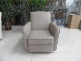 Sofá do couro genuíno da sala de visitas (C460)