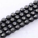 모조 다이아몬드 손질 유리 구슬 Strass 수정같은 밴딩 플라스틱 사슬을 (TC ss12/3mm 공간) 끈으로 동이는 3mm 플라스틱 모조 다이아몬드