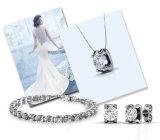 Swarovskiのかたつむりからの運命の宝石類の水晶はブレスレットのペンダントおよびイヤリングをセットした