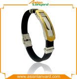 Concevoir le logo et le bracelet coloré de silicones