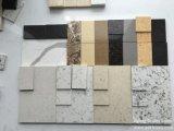 Steen van het Kwarts van de Kleur van Marfil van Crema de Marmeren Stevige Oppervlakte Gebouwde
