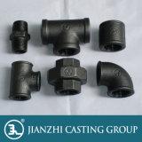 En10242 galvanisé/garnitures de pipe fonte malléable de noir