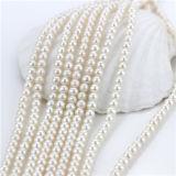 円形の淡水の培養された真珠の繊維を離れて6mm半