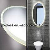 De tendens verfraait Alumnium/Zilveren Spiegel voor Badkamers, Slaapkamer met LEIDENE Lichten