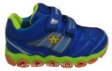 Les chaussures courantes du chevreau de chaussures de sports d'enfants (415-9436)