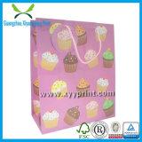 Bolsa de papel al por mayor del regalo del satén con la impresión de la insignia en China