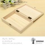 Regalo de madera Boxes_D del color natural por encargo de Hongdao
