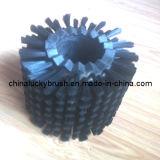 黒いナイロン物質的な円形のガラス・クリーニングのブラシ(YY-257)