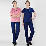 Uniforme médical d'infirmière de vêtement d'usure d'hôpital de vente en gros de prix usine de la Chine