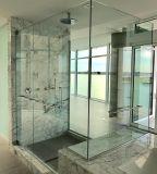 vidro Tempered da borda Polished desobstruída de 10mm para a porta do banheiro