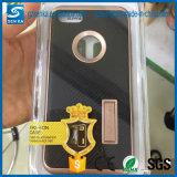 Caja del teléfono de la PC de la fibra TPU del carbón de la serie 2 de Motomo con Kickstand para Huawei P8/P8 Lite