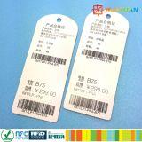 Étiquettes personnalisées de vêtement d'IDENTIFICATION RF de fréquence ultra-haute de papier de prix concurrentiel de modèles