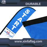 Bildschirmanzeige-einzelne und doppelte Seiten-Feder-Fahne/Strand-Markierungsfahne