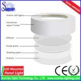 18W runde eingehangene LED Decke/unten/Instrumententafel-Leuchte