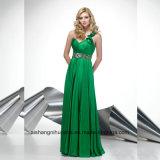 Glänzendes Ein-Schulter Kristall-Satin-Abend-Partei-Abschlussball-Kleid