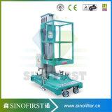 12m mobile elektrische vertikale Luftmast-Arbeitsbühne