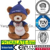 Urso macio do basebol do brinquedo do luxuoso do animal enchido do presente do bebê do CE