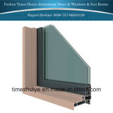 Finestra fissa di alluminio con il doppio vetro temperato