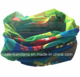 Lustre Multifunctional elástico Headwear do vermelho do OEM do produto feito sob encomenda